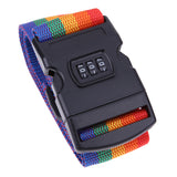 1pcs Rainbow Travel Luggage Locking Suitcase Strap
