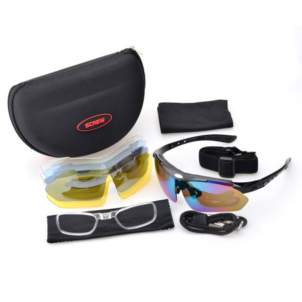 361517e363d ... Sports Glasses With 5 Lens Polarized Enhanced Low Light Vision Sun  Glasses ...