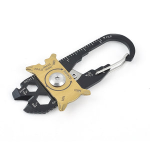 OUTAD 20-in-1 Multifunctional Stainless Steel Keychain Tool