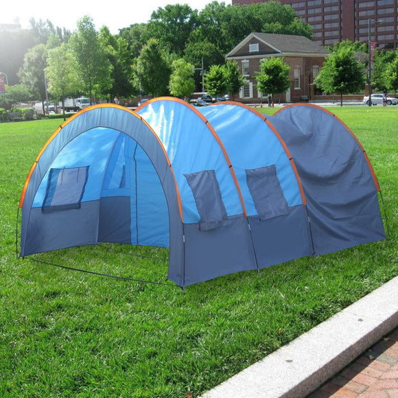 OUTAD - Quick Installation 2 Room 1 Hall 5 Window 8-10 People Waterproof Tent