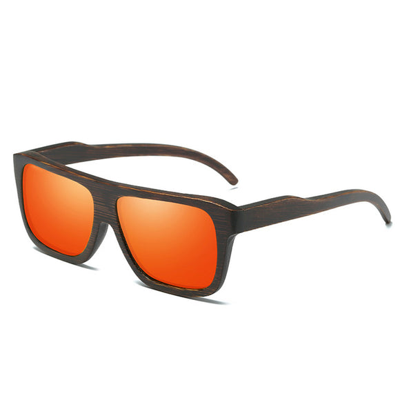 EZREAL Polarized Wood Framed Sunglasses