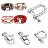 Alloy D-Shackle Paracord Bracelet Accessories