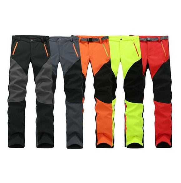 Mens Waterproof Hiking Trousers with Internal Fleece Lining