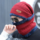 2pcs Cold Weather Knitted Hat & Neck Tube