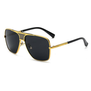 Metal Frame Flat Top Vintage Sunglasses