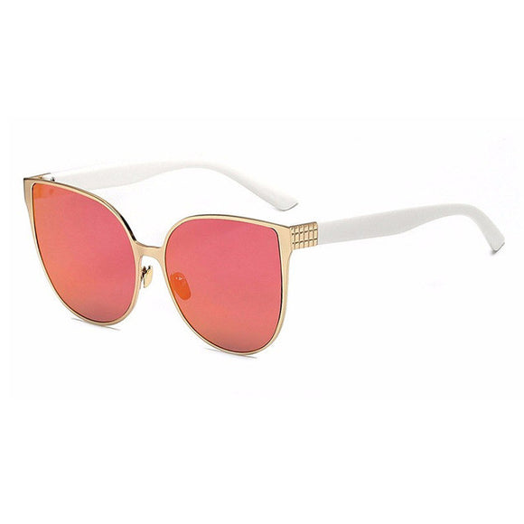 Womens Metal Frame Cats Eye Sunglasses