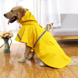Waterproof Dog Raincoat - Lightweight Poncho with Reflective Strip - Snow Defence