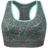 YOOY Womens Stretch Push Up Sports Bra
