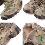 Men Military Tactical Combat Boots with Camouflage
