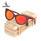 BOBO BIRD Rosewood Polarized Wood Framed Sunglasses