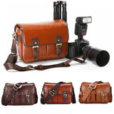 Luxury Vegan-Friendly PU Leather Camera Bag