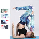 Lotus Flower Print Sports Leggings