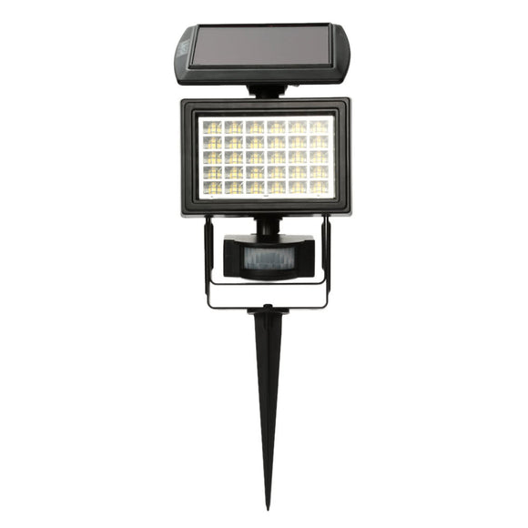 Lixada Solar Powered LED Floodlight with PIR Motion Sensor