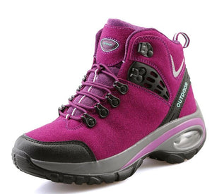 Beipuwolf Outdoor Womens Hiking Boots Pink/Purple/Black