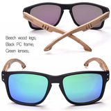 SKADINO Wood Arm Polarized Sunglasses