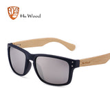 HU WOOD Natural Bamboo Wood Sunglasses Handmade UV400