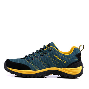 MERRTO Mens Outdoor Air Mesh Hiking Shoes