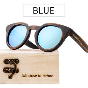 Angcen Handmade Shabby Chic Wood Sunglasses