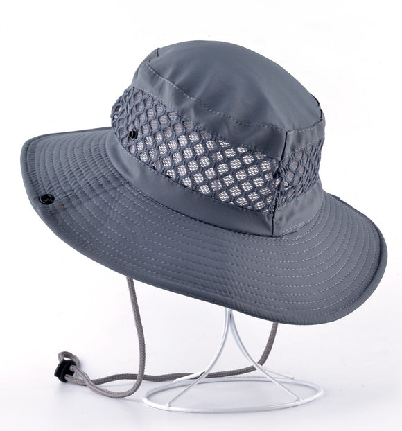 Wide Brim Mesh Summer Hat