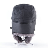 Faux Fur Trapper Hat with Face Cover