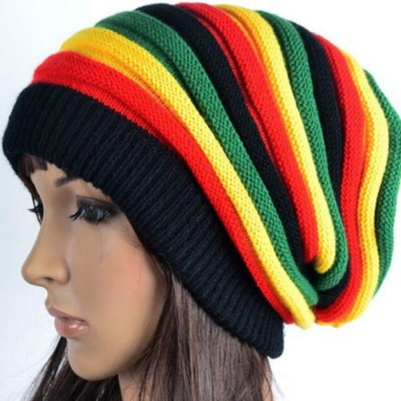 Caribbean Multi-coloured Slouch Beanie