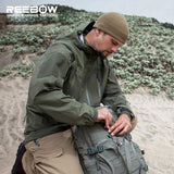 REEBOW TACTICAL Outdoor Hooded Hardshell Hiking Jacket