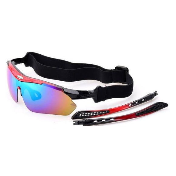 Sports Glasses With 5 Lens Polarized Enhanced Low Light Vision Sun Glasses