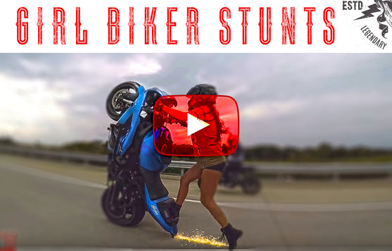Girl Biker Stunts | Motorcycle Stunts