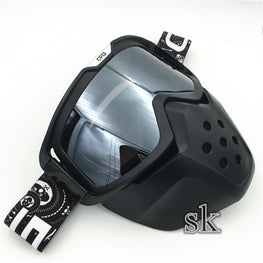 Vintage Style Windproof Goggles Mask For Open face Harley Helmets - MOTORCYCLES CLUB.NET