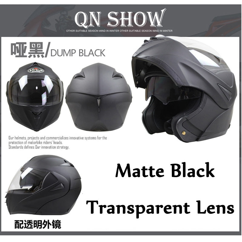Modular Motorcycle Helmet DOT Full Face With Lens - MOTORCYCLES CLUB.NET