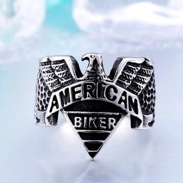 American Biker Motorcycle Freedom Eagle Ring - MOTORCYCLES CLUB.NET