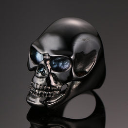 Gothic Motorcycle Black Skull Skeleton Ring - MOTORCYCLES CLUB.NET