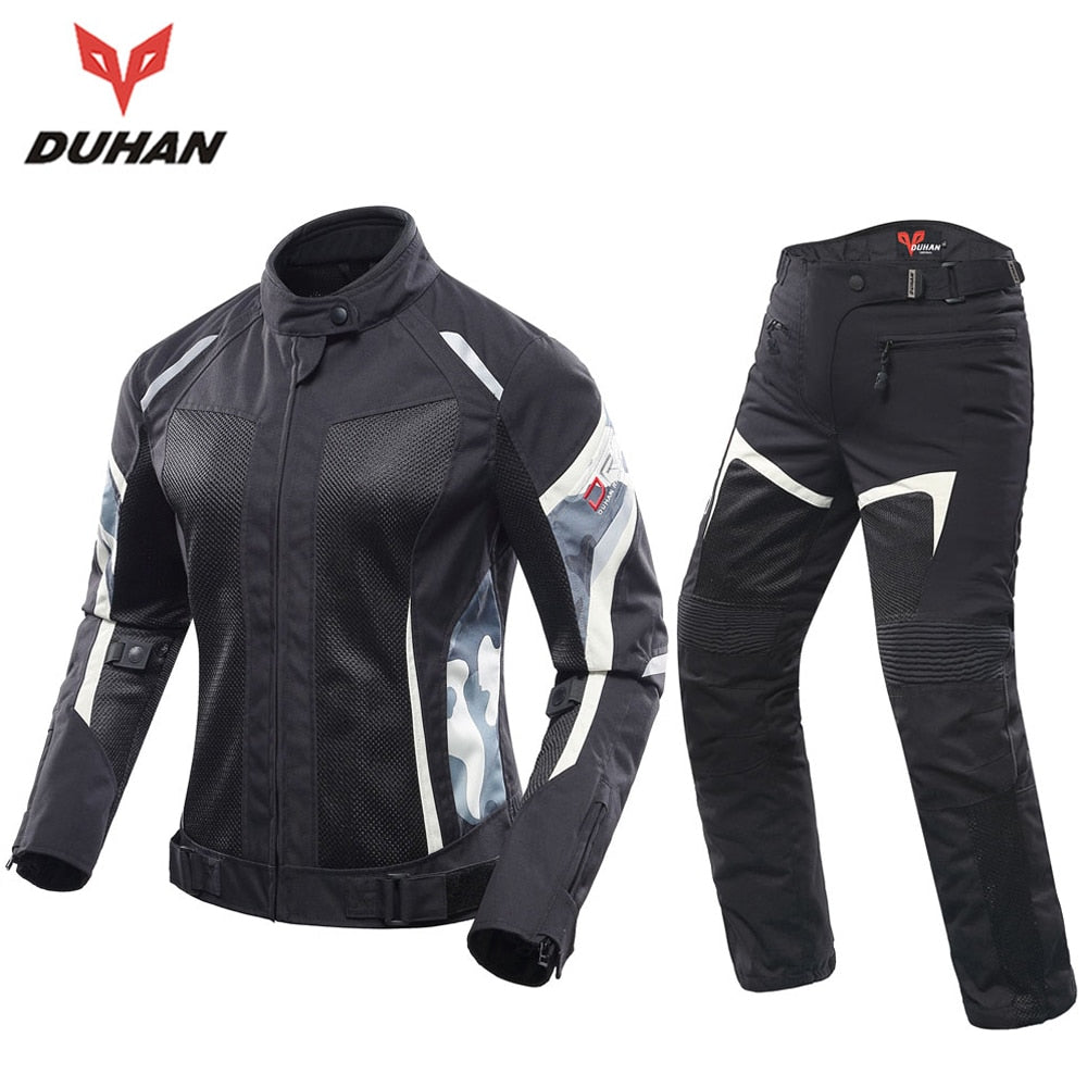 Womens Motorcycle Jacket Motorcycle Pants Suit Jacket Moto Breathable