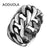 Stainless Steel with Rope Punk Ring Big Size rings Retro Vintage Biker Large Antique Men's Rings For Seal men Rock mens Jewelry - MOTORCYCLES CLUB.NET