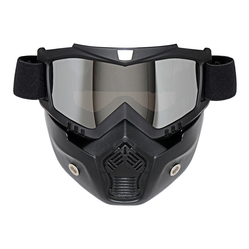 dcec29f38ad Vintage Style Windproof Goggles Mask For Open face Harley Helmets -  MOTORCYCLES CLUB.NET