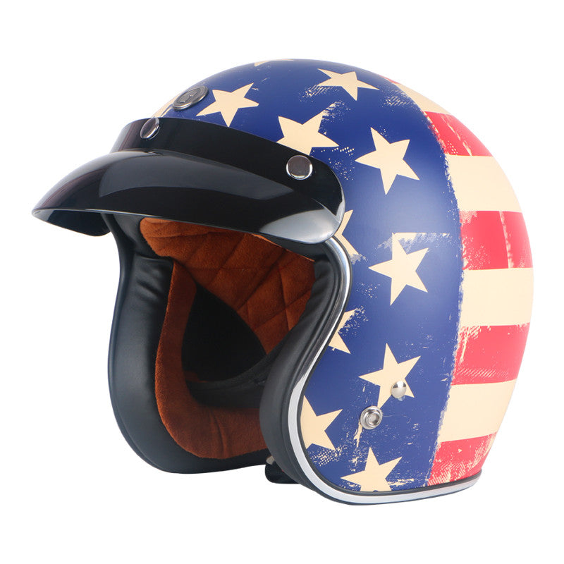 THH T-72 Pirate Motorcycle Helmet Chopper Helmet DOT ABS Scooter Helmet Visor