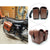 KEMiMOTO Motorcycle saddle bags PU Leather SaddleBag cruise vehicle side Panniers Tool Bag for Harley Cruiser after market - MOTORCYCLES CLUB.NET