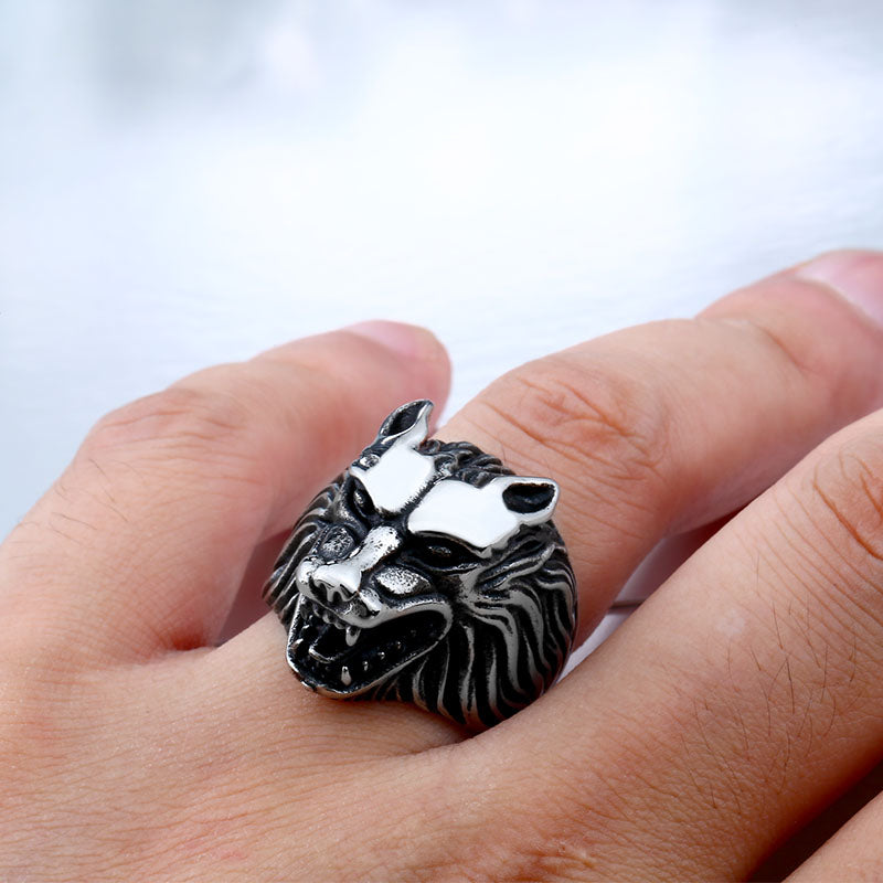 Wolf Stainless Steel Biker Ring - MOTORCYCLES CLUB.NET