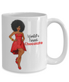 World Finest Chocolate - Medium Brown 15 oz White Mug