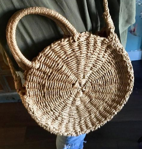 Straw Round Crossbody Bag Summer Mush-Have