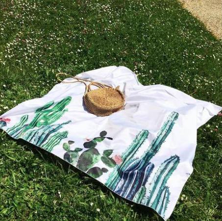 Cactus Tapestry Beach Cloth Picnic Blanket