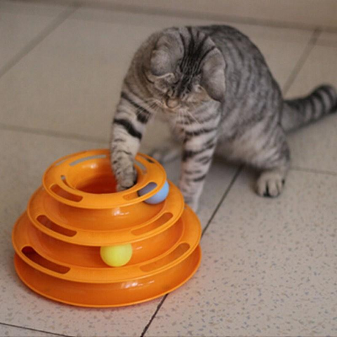Cat Three Balls Game Intelligence Orange Toy Pet Chasing