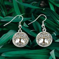 Tree Of Life Dangle Earrings Forest