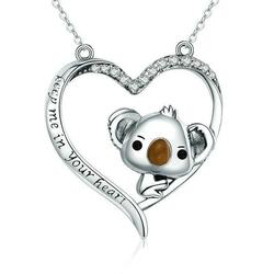 Koala Silver Necklace Pendant