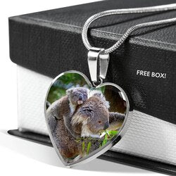 Mum and Baby Koala 18K Gold Necklace