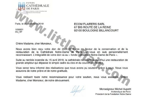 Notre Dame de Paris Donation 2000 EUR Little Flair