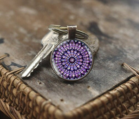 Notre Dame Rose Window Key Chain