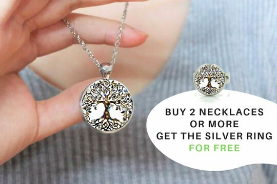 Free Tree Of Life Ring For 2 Necklaces