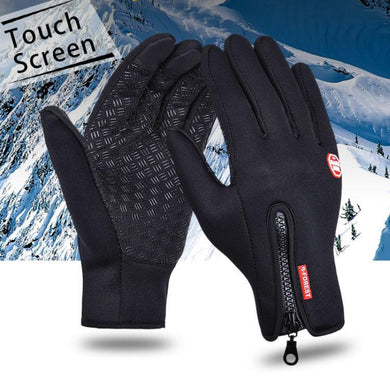 B-Forest Gloves Windproof Waterproof Touchscreen Black Winter Outdoor Exploration Ski Cycling Snowboard Hiking Hunting Fishing Mountain Snow
