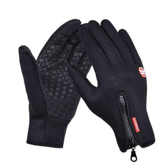 B-Forest Gloves Windproof Waterproof Touchscreen Winter Black Outdoor Exploration Ski Cycling Snowboard Hiking Hunting Fishing
